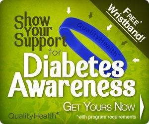 Free Diabetes Awareness Wristband