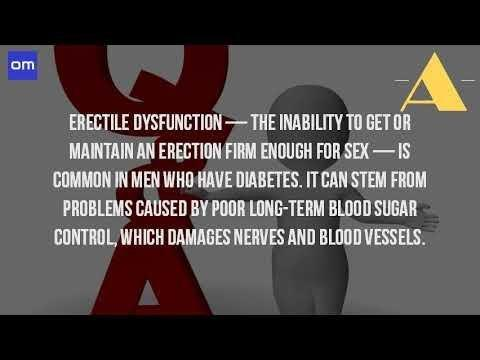 Can Diabetes Cause Erectile Problems?