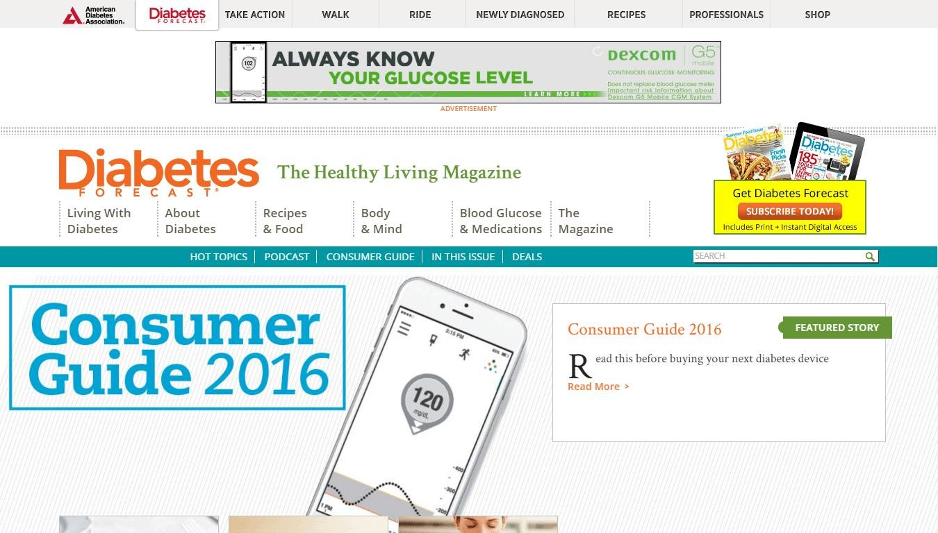 Diabetes Forecast Reviews Online Magazine On Diabetes With Tons Of Recipes Along With Mobile App