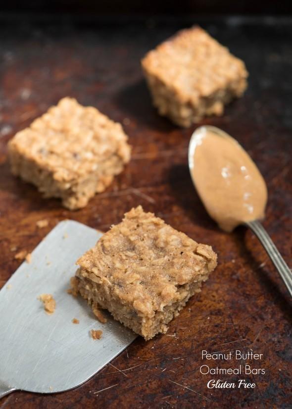Peanut Butter Oatmeal Bars {gluten Free}