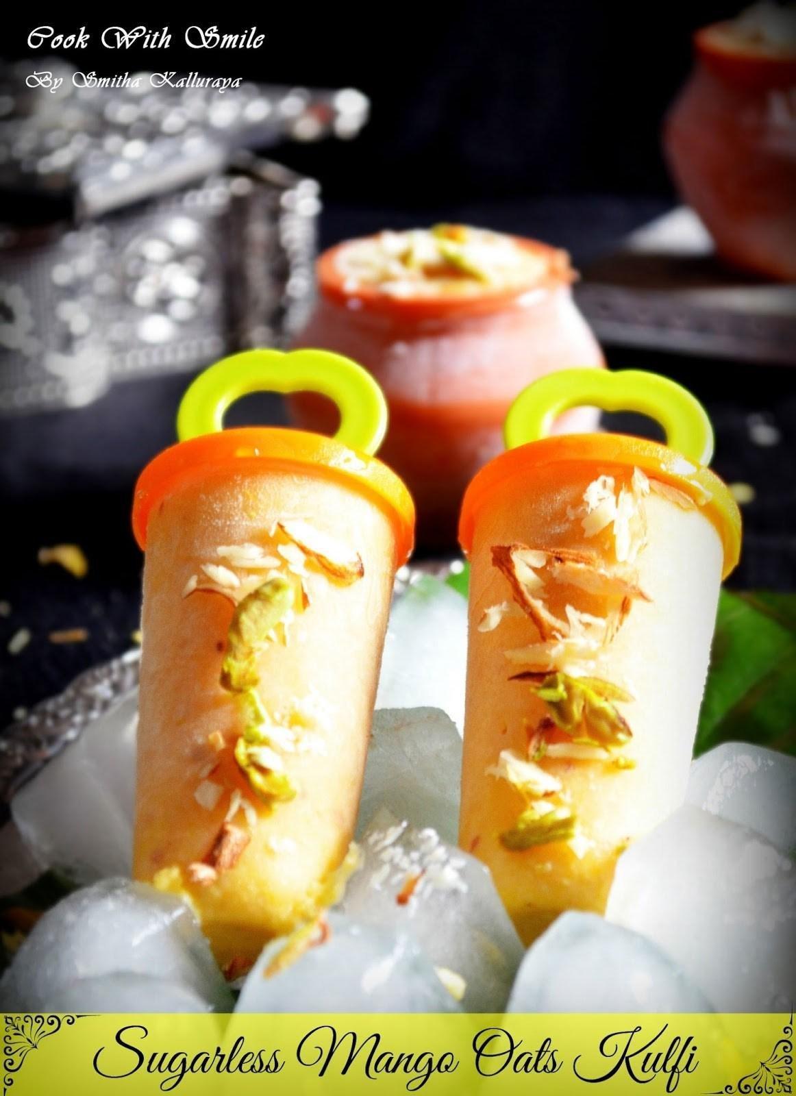 Mango Oats Kulfi / Oats Icecream – Diabetic Friendly Dessert Recipes
