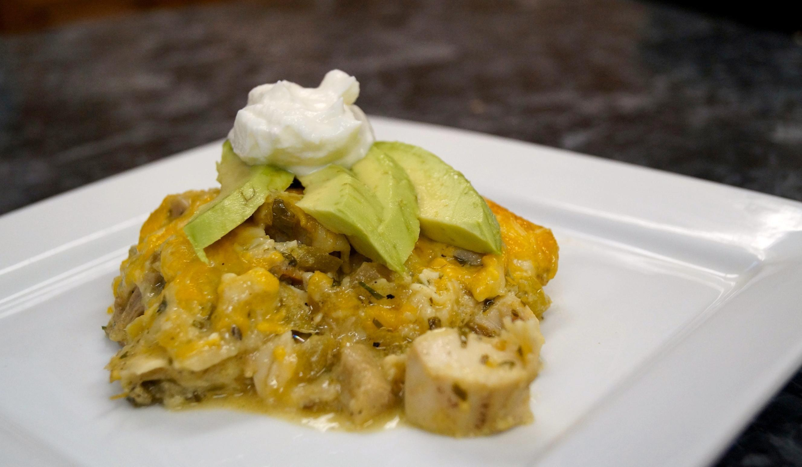 Chicken Enchiladas Verde Stack