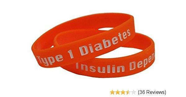Amazon.com : Medical Alert - Type 1 Diabetes Insulin Dependent - Diabetic Silicone Wristband : Sports Wristbands : Sports & Outdoors