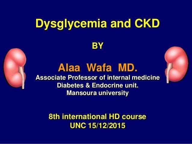 Diabetes,dysglycemia; And Chronic Kidney Disease By Prof Alaa Wafa