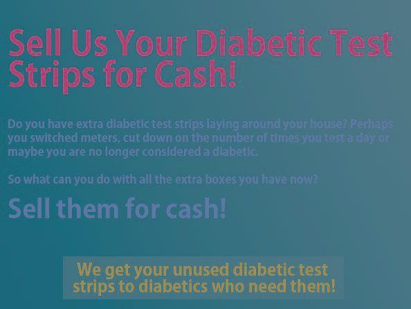 Selling Used Diabetic Test Strips
