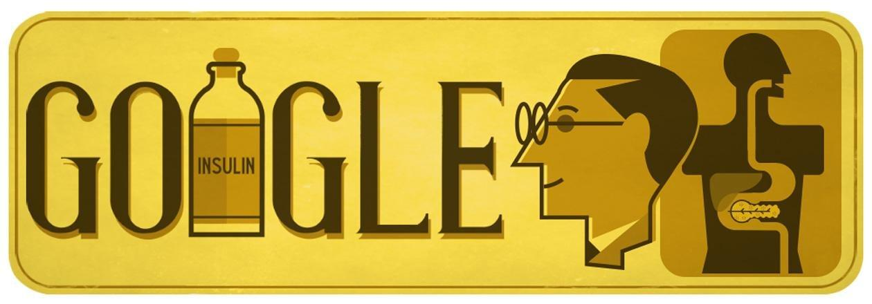 Google doodle celebrates 125th birthday of diabetes treatment pioneer Sir Frederick Banting