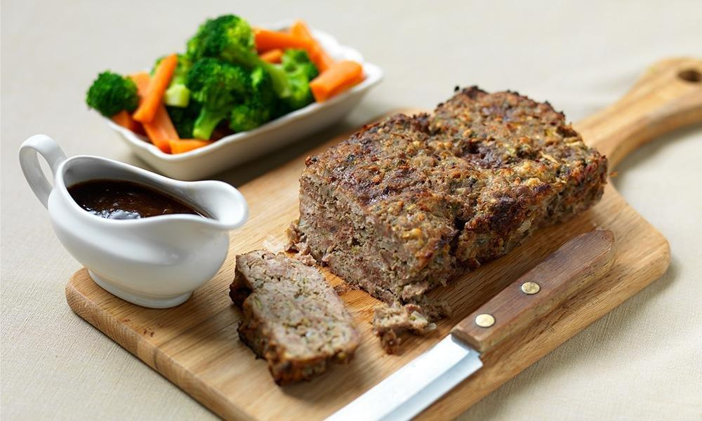 Savoury Meatloaf And Onion Gravy