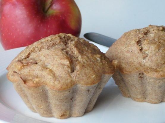 Diabetic Apple Oat Bran Muffins