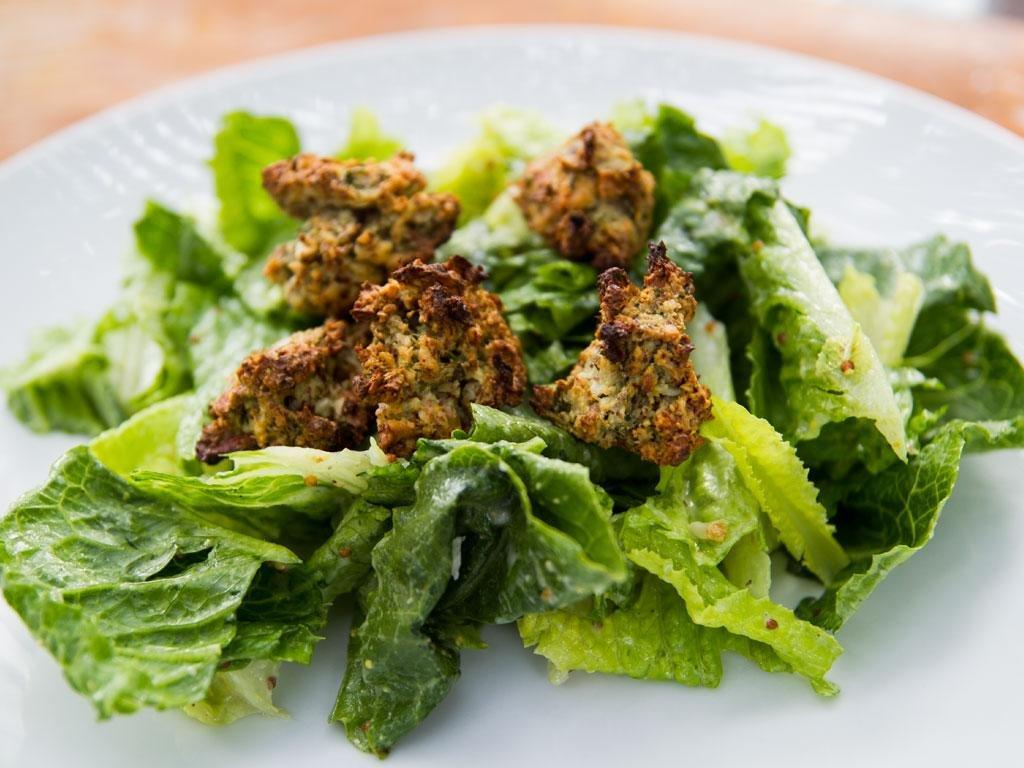 Caesar Salad With Gluten Free Nutty Croutons Recipe
