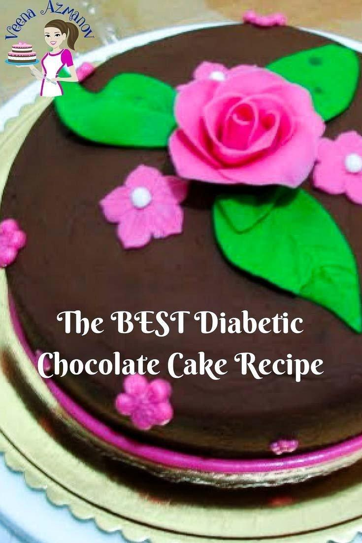 The Best Diabetic Chocolate Cake With Chocolate Frosting