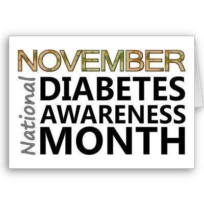 CDC: November is National Diabetes Month