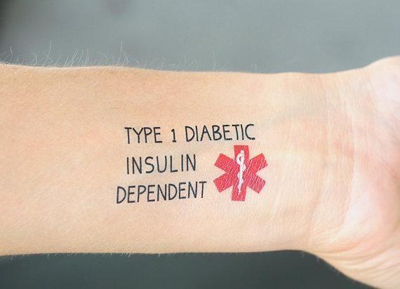 Type 2 Diabetes Tattoo Designs
