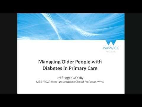 Older People And Diabetes