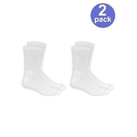 Men's Diabetic And Circulatory Crew Socks 2-pack