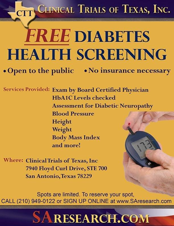Free Blood Sugar Test Near Me