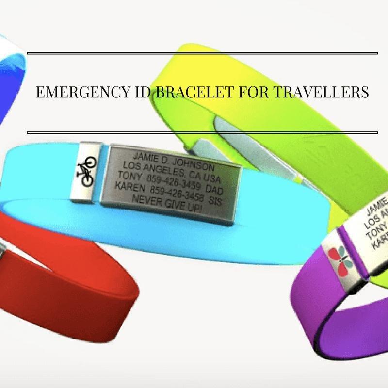 Emergency Id Bracelet For Travellers