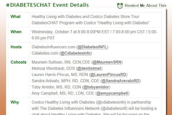 #diabeteschat: Healthy Living With Diabetes And Costco Diabetes Store Tour (october 7, 2015)