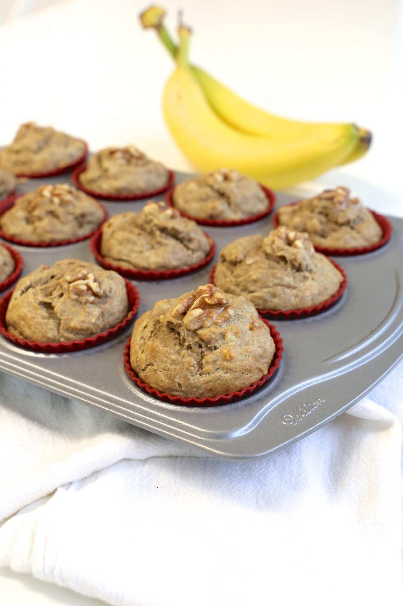The Best {no Sugar Added} Banana Muffins