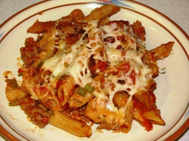 Baked, Cheesy, Healthy Penne Sausage Bake