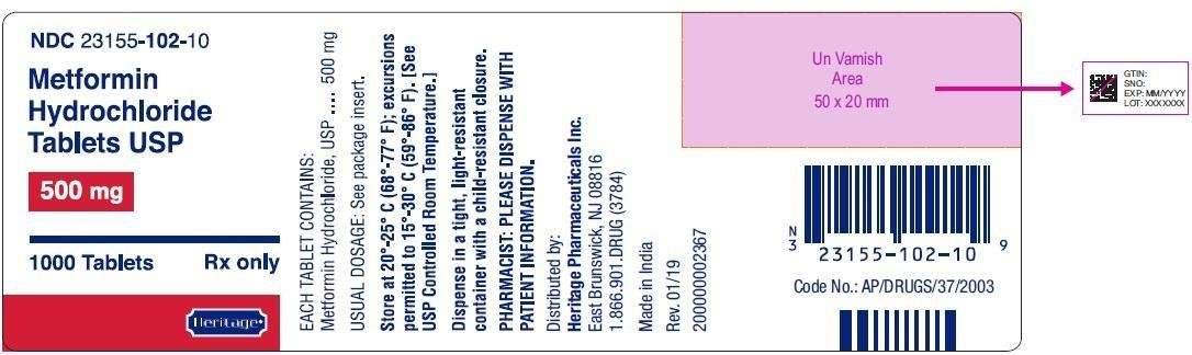 Metformin Hydrochloride - Heritage Pharmaceuticals Inc.