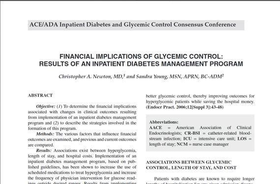 Inpatient Diabetes Management Guidelines