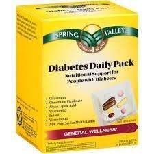 Spring Valley Diabetes Nutrition Daily Pack Reviews
