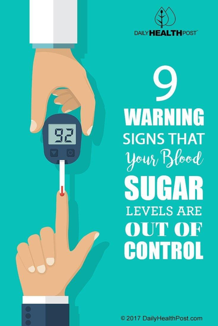 9 Warning Signs That Your Blood Sugar Levels Are Out Of Control