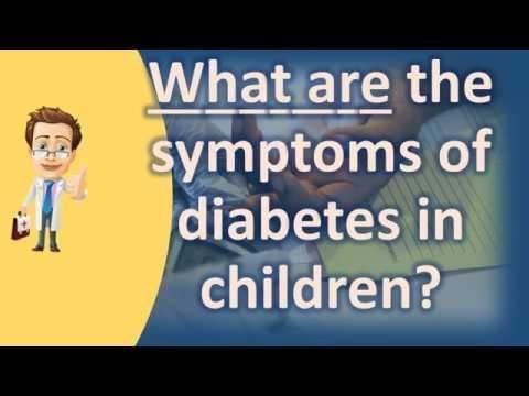 Warning Signs Of Diabetes In Children