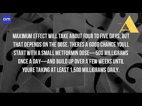How Long Before Metformin Starts To Work
