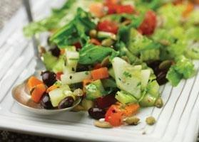 Chopped Salad With Cilantro Lime Dressing