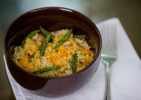 Chicken Cheddar Rice With Asparagus