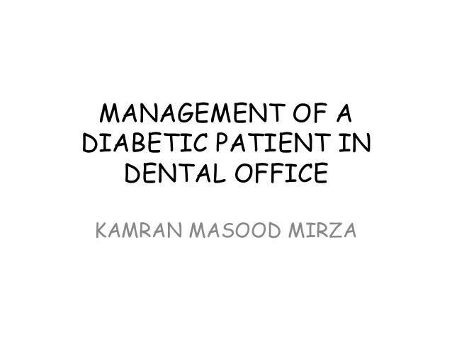 Diabetes And Dental Treatment