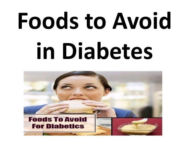 Foods To Avoid With Diabetes