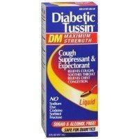 Diabetic Tussin Dm Cough Suppressant & Expectorant Liquid Maximum Strength 8 Oz