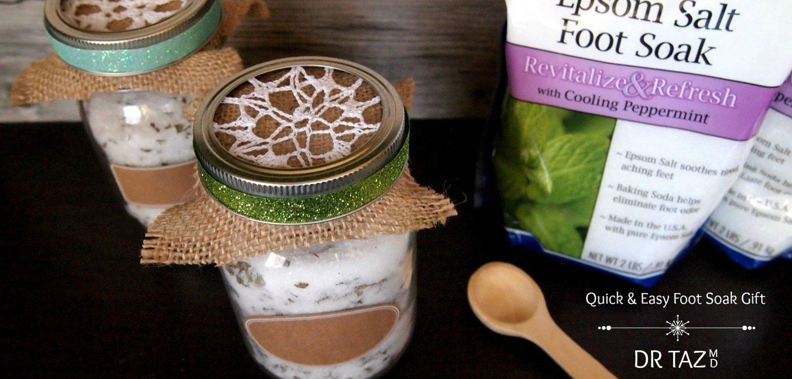 A Simple Gift: Peppermint Epsom Salt Foot Soak