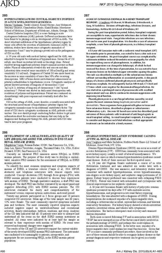 Hypernatremia From Central Diabetes Insipidus In Acute Myelogenous Leukemia