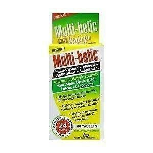 Multi-betic Diabetes Multi Vitamin And Mineral 24 Hour Support Formula, (pack | Ebay