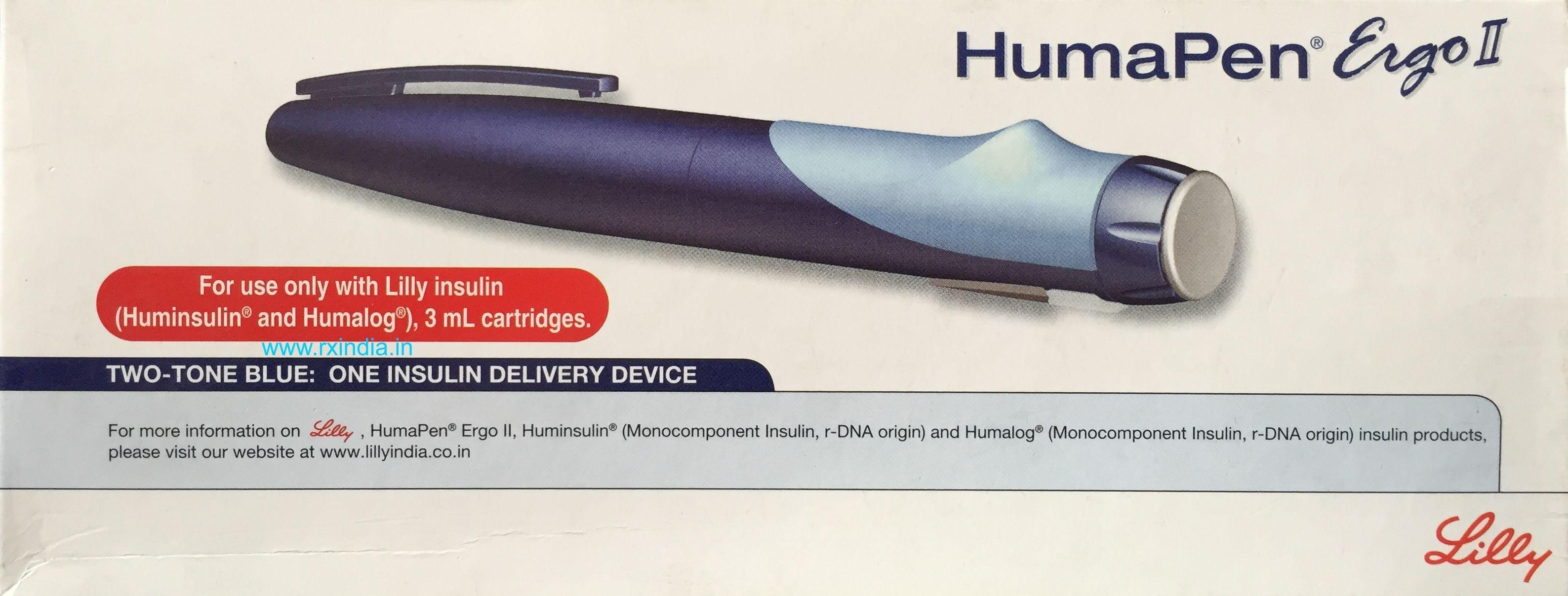 Buy Lilly Humapen Ergo Ii Online Insulin Delivery Injection Pen Eli Lilly Best Price On Rxindia