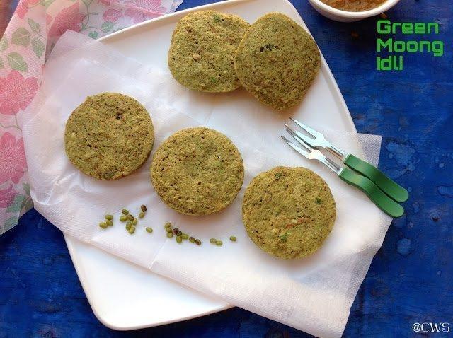 Green Moong Idlis ~diabetic Recipe