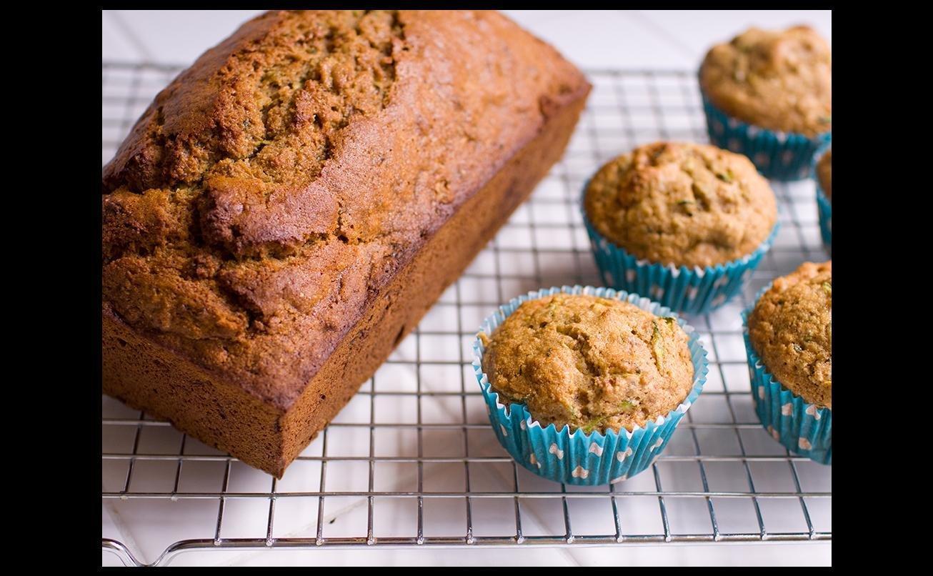 High-fiber Zucchini Muffins
