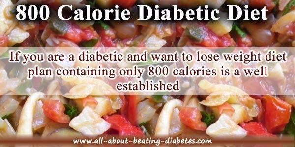 800 Calorie Diet Plan For Type 2 Diabetes