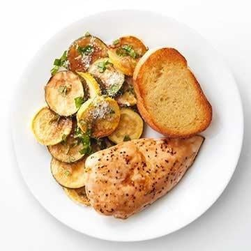 Balsamic Roasted Chicken And Vegetables