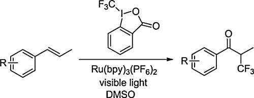 Synthesis Of Α-cf3 Ketones From Alkenes And Electrophilic Trifluoromethylating Reagents By Visible-light Driven Photoredox Catalysis