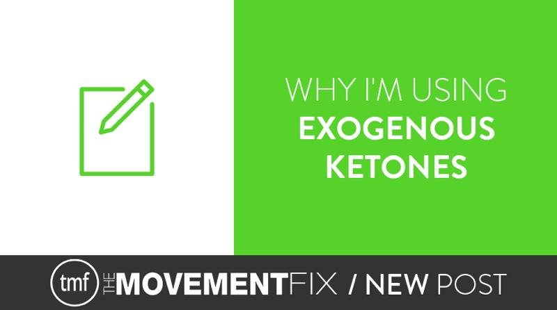 Why I'm Using Exogenous Ketone Supplements