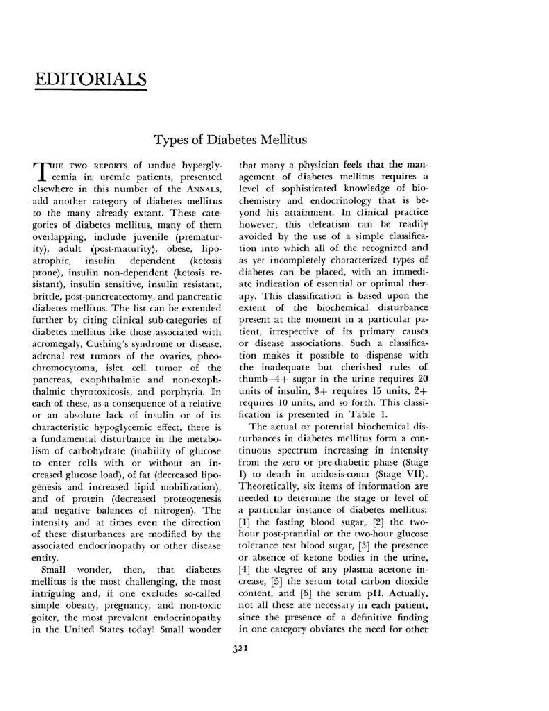 Types Of Diabetes Mellitus