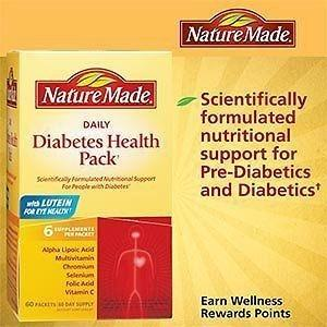 Nature Made Daily Diabetes Health Pack - 60 Count | Ebay