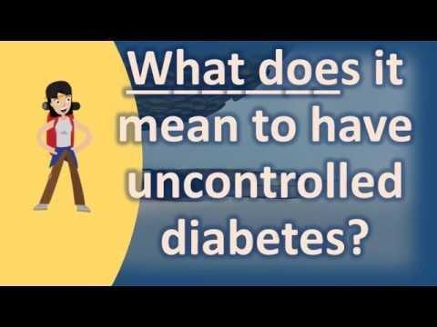 Controlled Diabetes Definition