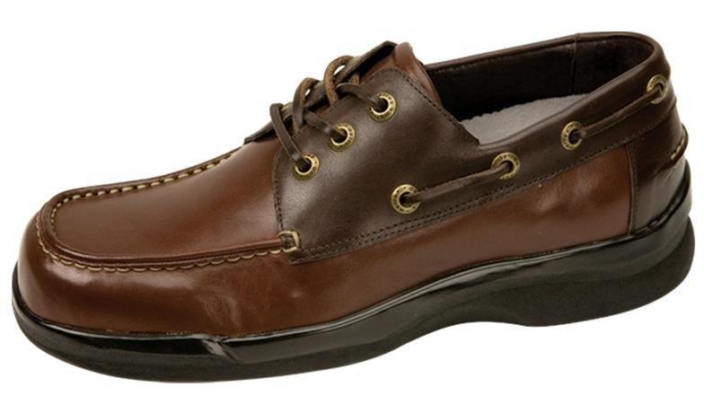 Mens Boat Shoes - Aetrex Ambulator Boat Shoes - Tan