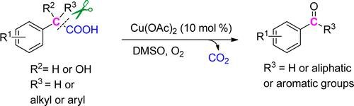 Aldehydes And Ketones Formation: Copper-catalyzed Aerobic Oxidative Decarboxylation Of Phenylacetic Acids And Α-hydroxyphenylacetic Acids