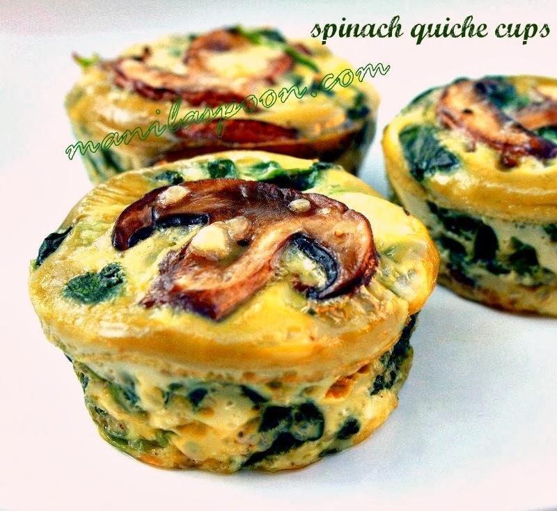 Spinach Quiche Cups - Manila Spoon